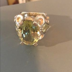 Sterling Silver and 14K Gold Citrine Ring